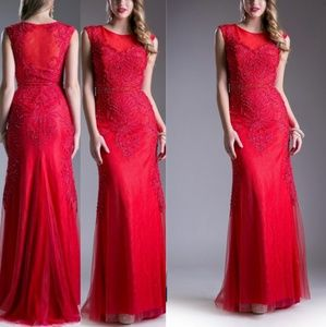Dresses & Skirts - Red evening gown dress is darker red than pictured